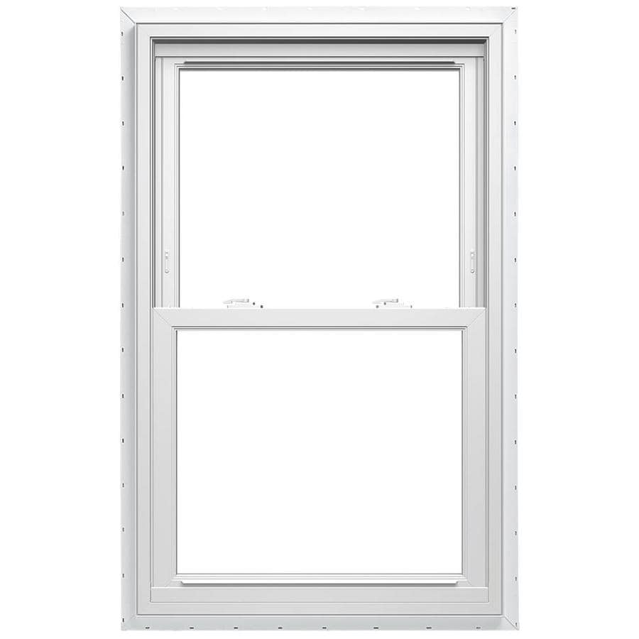 ThermaStar by Pella Vinyl Double Pane Annealed New Construction Double Hung Window (Rough Opening: 35.75-in x 65.75-in Actual: 35.5-in x 65.5-in)