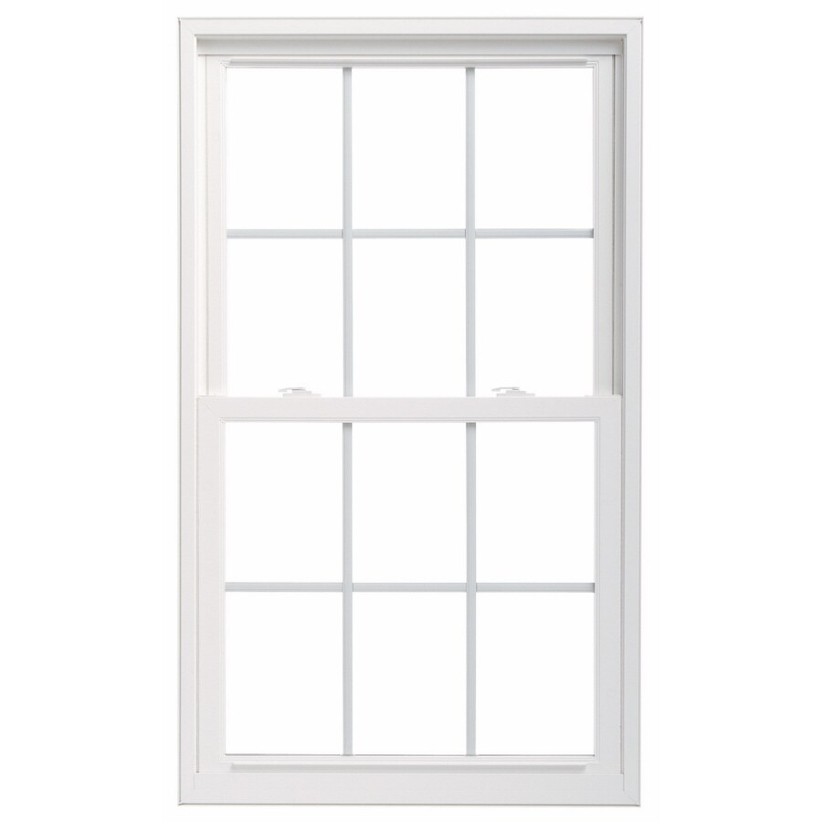 ThermaStar by Pella 25 Series Vinyl Double Pane Annealed New Construction Double Hung Window (Rough Opening: 35.75-in x 53.75-in Actual: 35.5-in x 53.5-in)