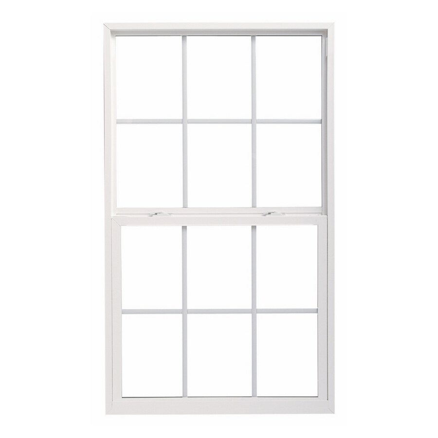 ThermaStar by Pella 10 Series Vinyl Double Pane Annealed Single Hung Window (Rough Opening: 52.625-in x 37.875-in; Actual: 52.125-in x 37.375-in)