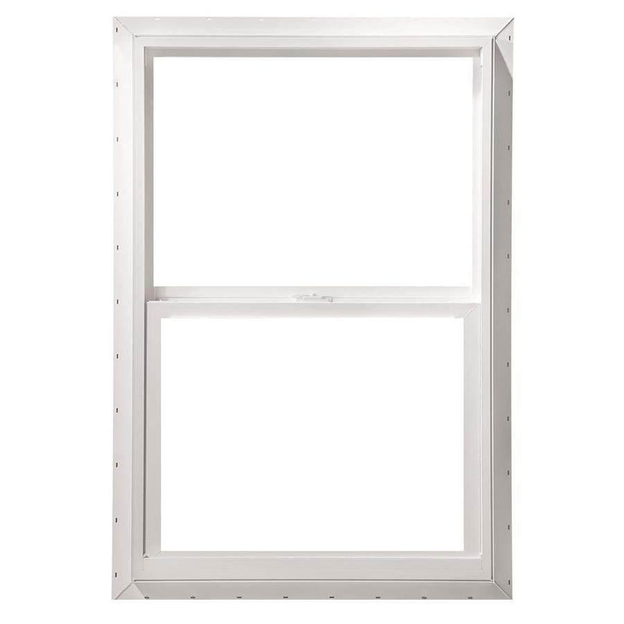 ThermaStar by Pella 10 Series Vinyl Double Pane Annealed New Construction Single Hung Window (Rough Opening: 24-in x 36-in; Actual: 23.5-in x 35.5-in)