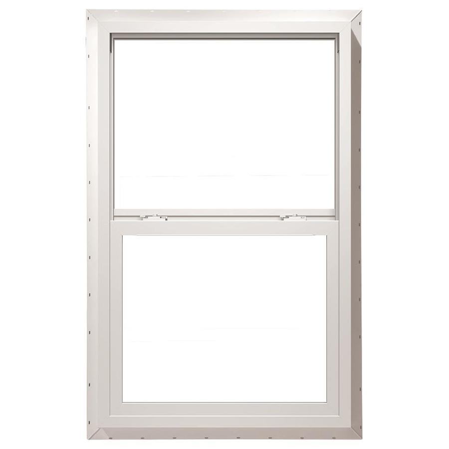 ThermaStar by Pella Vinyl Double Pane Annealed Egress Single Hung Window (Rough Opening: 32-in x 66-in; Actual: 31.5-in x 65.5-in)