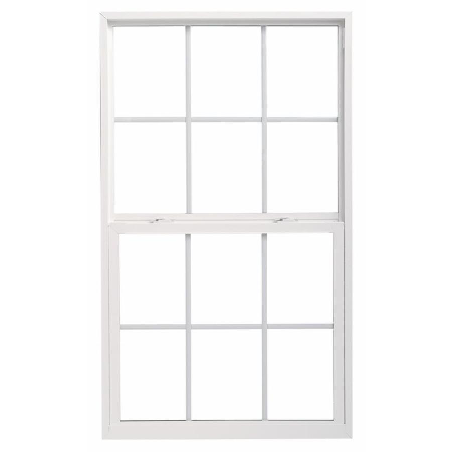 ThermaStar by Pella 10 Series Vinyl Double Pane Annealed Single Hung Window (Rough Opening: 30-in x 60-in; Actual: 29.5-in x 59.5-in)