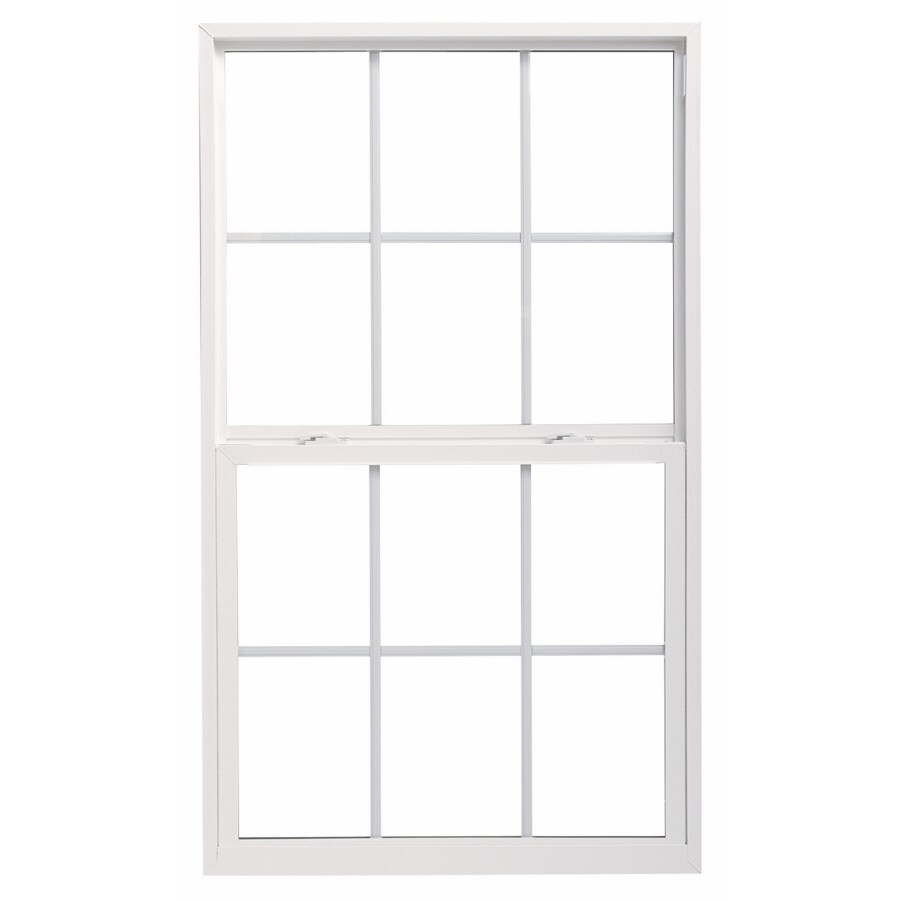 ThermaStar by Pella 20 Series Vinyl Double Pane Annealed Replacement Single Hung Window (Rough Opening: 35.75-in x 35.75-in; Actual: 35.5-in x 35.5-in)