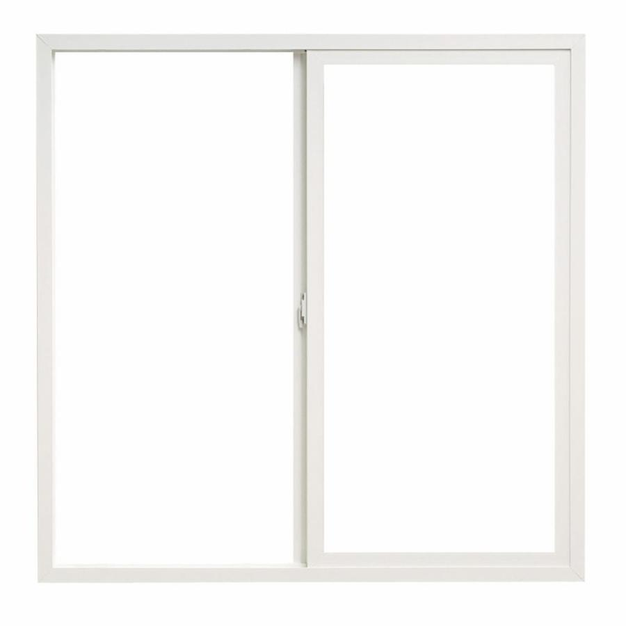 ThermaStar by Pella 10 Series Left-Operable Vinyl Double Pane Annealed New Construction Sliding Window (Rough Opening: 24-in x 24-in; Actual: 23.5-in x 23.5-in)