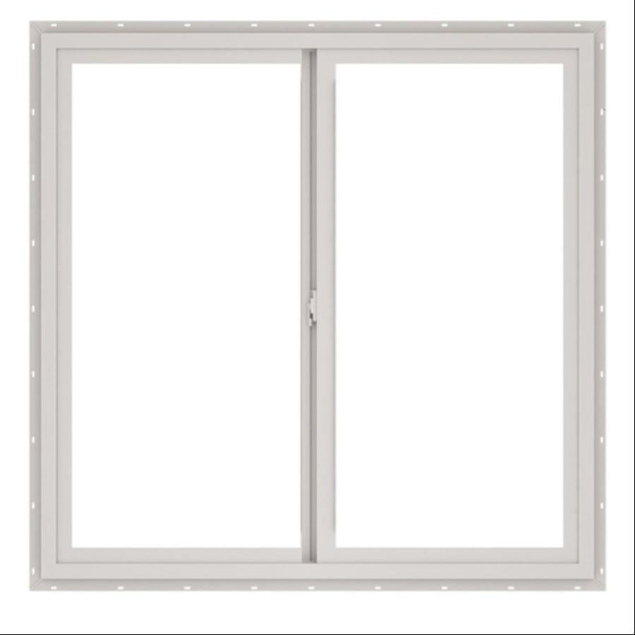 ThermaStar by Pella Left-Operable Vinyl Double Pane Annealed Sliding Window (Rough Opening: 36-in x 24-in; Actual: 35.5-in x 23.5-in)