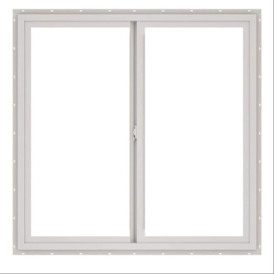 ThermaStar by Pella 10 Series Left-Operable Vinyl Double Pane Annealed New Construction Egress Sliding Window (Rough Opening: 60-in x 60-in; Actual: 59.5-in x 59.5-in)