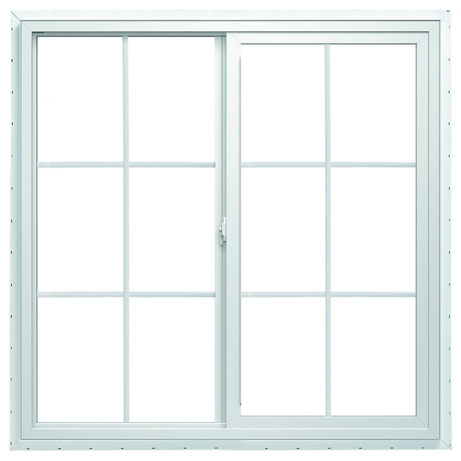 ThermaStar by Pella 10 Series Left-Operable Vinyl Double Pane Annealed Egress Sliding Window (Rough Opening: 48-in x 36-in; Actual: 47.5-in x 35.5-in)
