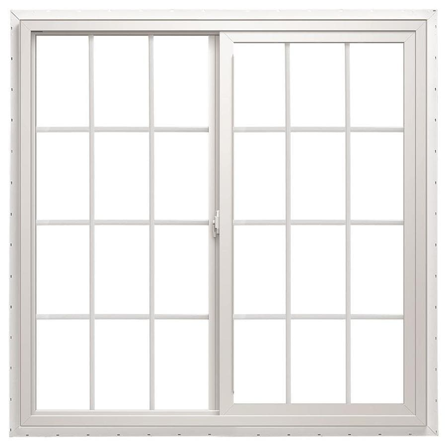 ThermaStar by Pella 10 Series Left-Operable Vinyl Double Pane Annealed New Construction Egress Sliding Window (Rough Opening: 72-in x 48-in; Actual: 71.5-in x 47.5-in)