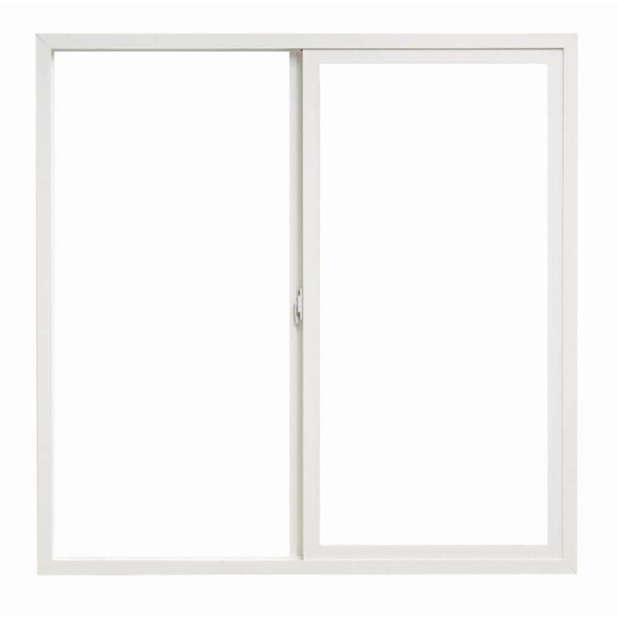 ThermaStar by Pella 10 Series Left-Operable Vinyl Double Pane Annealed Sliding Window (Rough Opening: 48-in x 12-in; Actual: 47.5-in x 11.5-in)