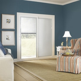 Shop thermastar by pella x 79 5 in blinds between the glass right hand white vinyl - Pella patio doors with blinds ...