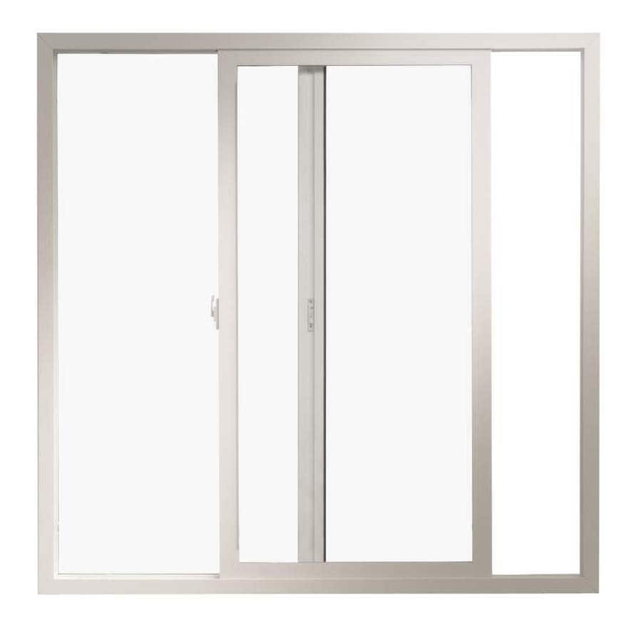 Shop thermastar by pella right operable vinyl double pane for Double door replacement