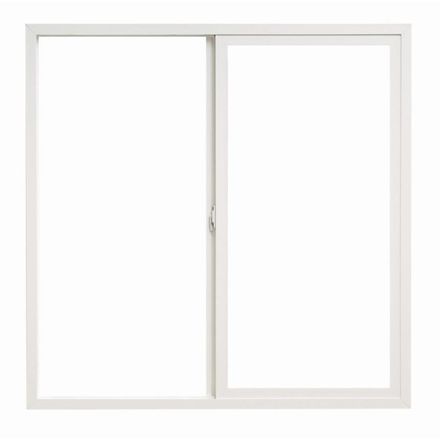 ThermaStar by Pella 10 Series Left-Operable Vinyl Double Pane Annealed Egress Sliding Window (Rough Opening: 72-in x 42-in; Actual: 71.5-in x 41.5-in)