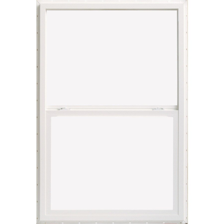 ThermaStar by Pella Vinyl Double Pane Annealed Single Hung Window (Rough Opening: 26-in x 38-in; Actual: 25.5-in x 37.5-in)