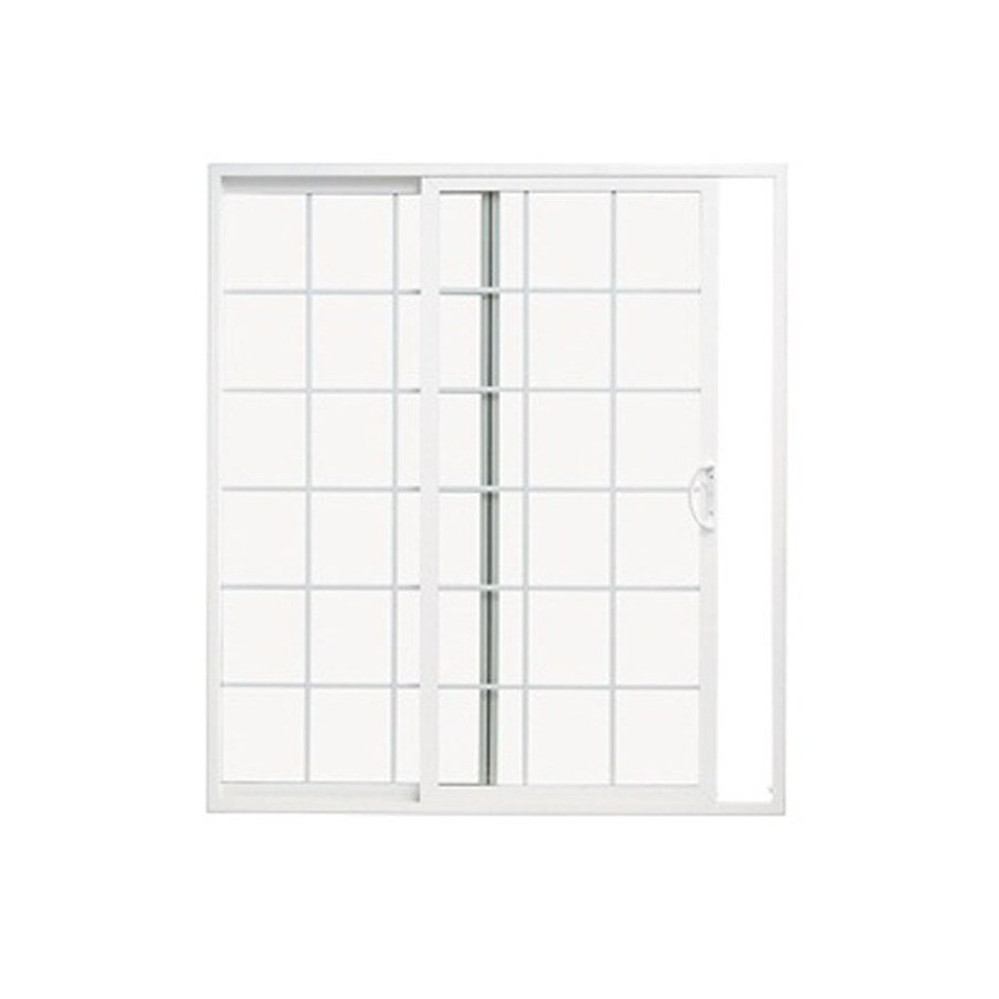 ThermaStar by Pella 10 Series 71.5-in Grilles Between the Glass White Vinyl Sliding Patio Door