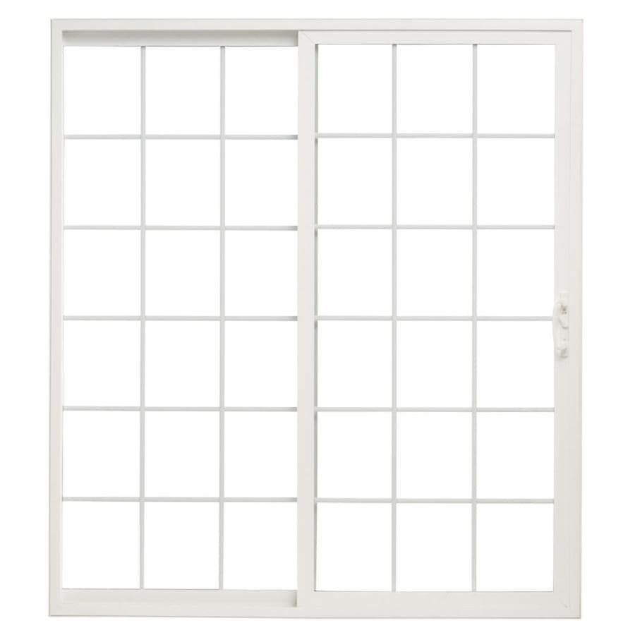 ThermaStar by Pella 10 Series 71.5-in Grilles Between the Glass White Vinyl Sliding Patio Door