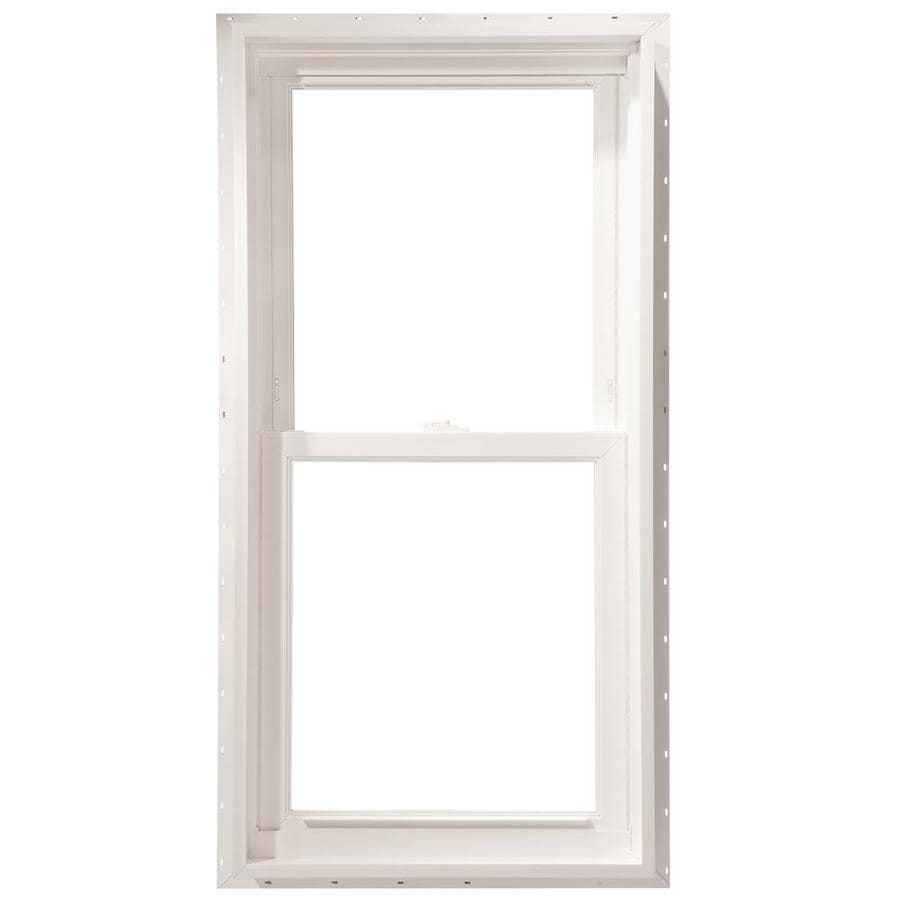 ThermaStar by Pella Vinyl Double Pane Annealed New Construction Double Hung Window (Rough Opening: 23.75-in x 45.75-in Actual: 23.5-in x 45.5-in)