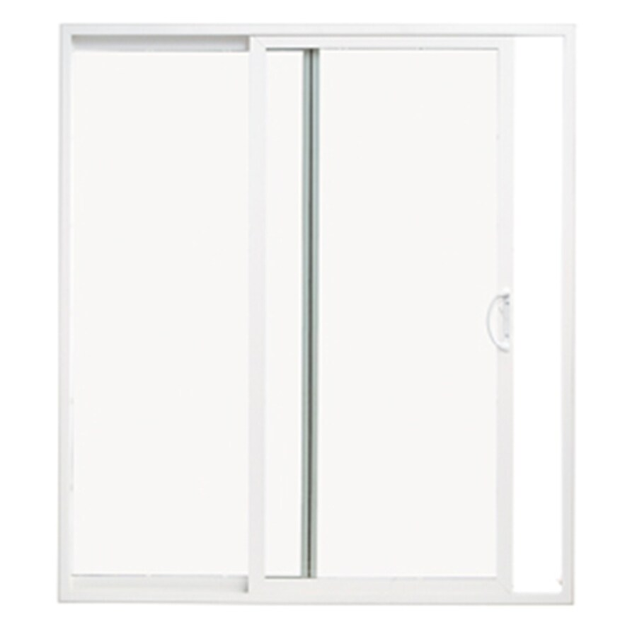 ThermaStar by Pella 10 Series 59.5-in Clear Glass White Vinyl Sliding Patio Door