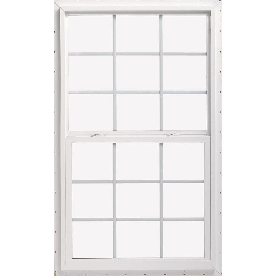 Single Pane Single Hung Window : Shop thermastar by pella series vinyl double pane