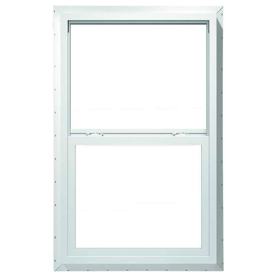 ThermaStar by Pella 10 Series Vinyl Double Pane Annealed Single Hung Window (Rough Opening: 36-in x 48-in; Actual: 35.5-in x 47.5-in)