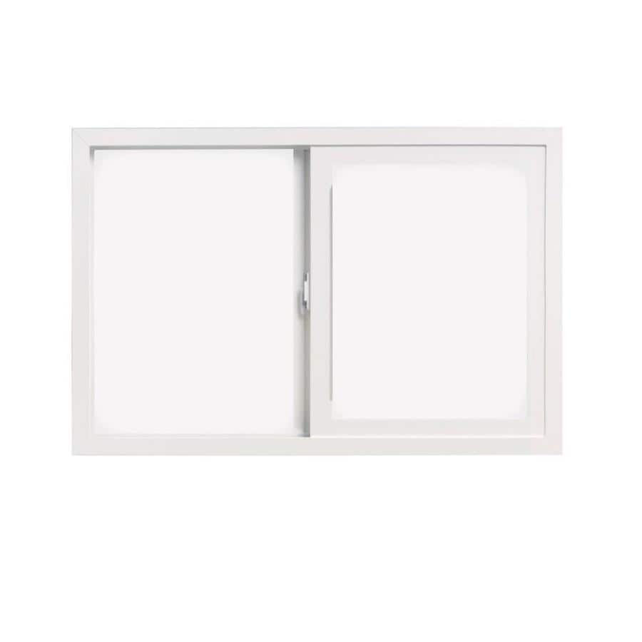 ThermaStar by Pella 10 Series Left-Operable Vinyl Double Pane Annealed Sliding Window (Rough Opening: 48-in x 24-in; Actual: 47.5-in x 23.5-in)