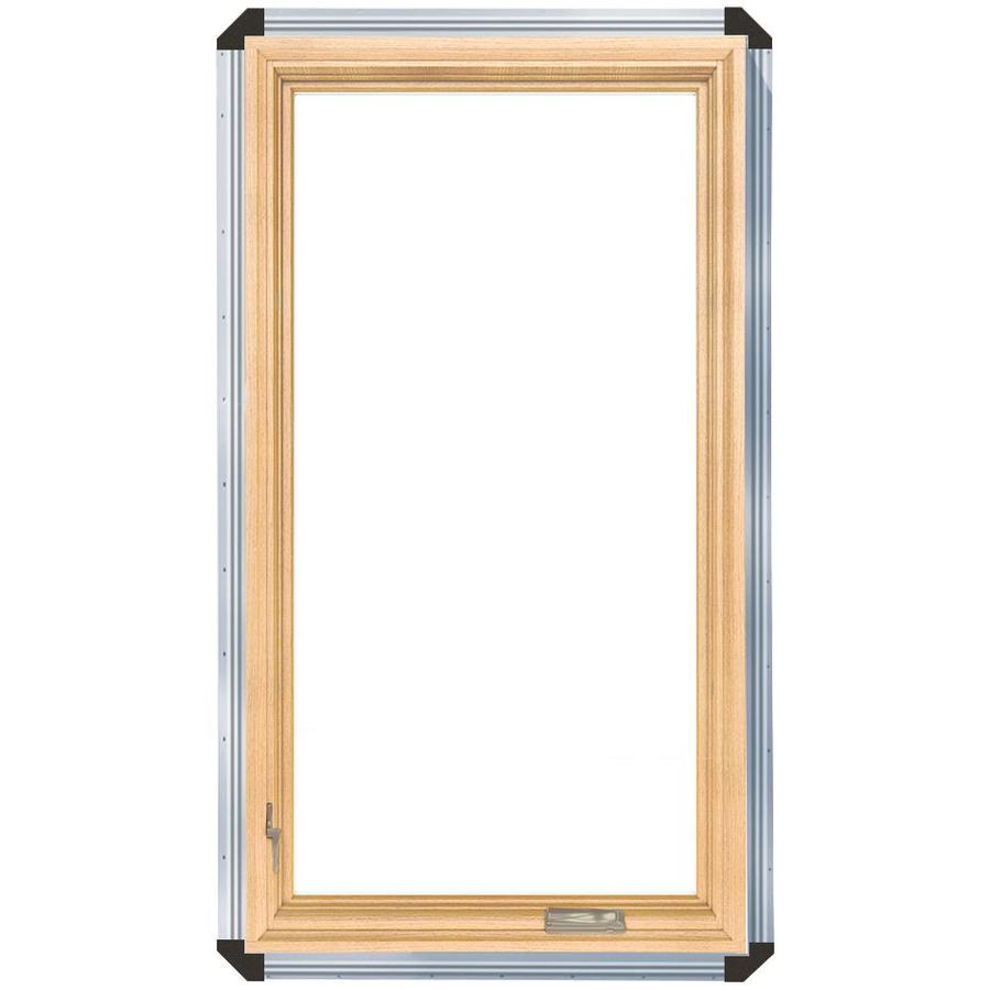 ProLine 450 Series 1-Lite Wood Double Pane Annealed Casement Window (Rough Opening: 25.75-in x 35.75-in Actual: 25-in x 35-in)