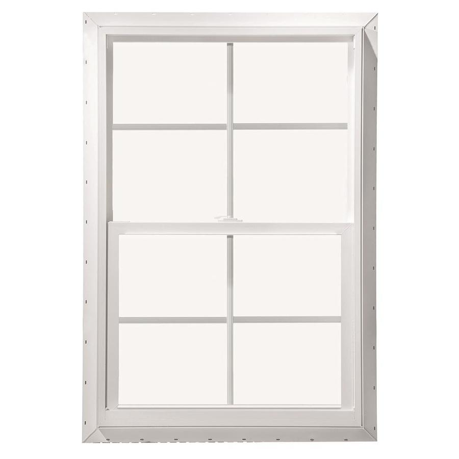 ThermaStar by Pella Vinyl Double Pane Annealed Single Hung Window (Rough Opening: 28-in x 46-in; Actual: 27.5-in x 45.5-in)