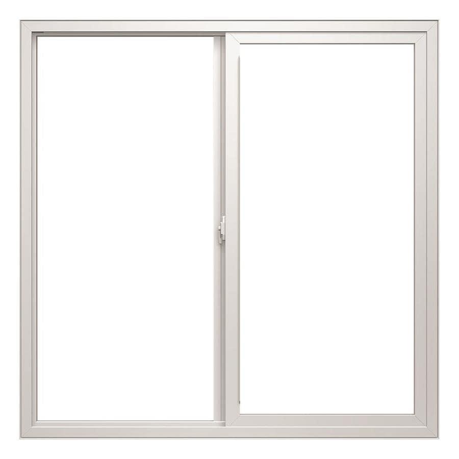 Shop thermastar by pella left operable vinyl double pane for Double pane vinyl windows