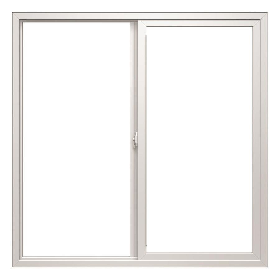 ThermaStar by Pella Left-Operable Vinyl Double Pane Annealed Replacement Egress Sliding Window (Rough Opening: 47.75-in x 47.75-in; Actual: 47.5-in x 47.5-in)
