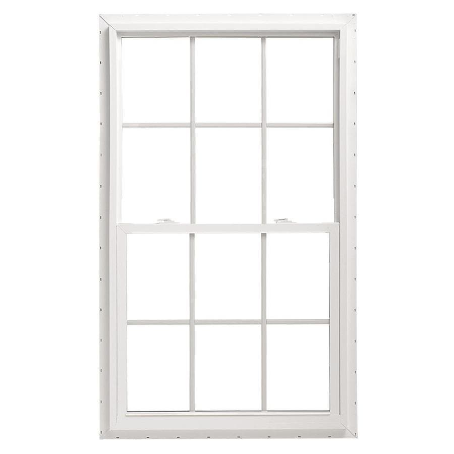 ThermaStar by Pella Vinyl Double Pane Annealed Single Hung Window (Rough Opening: 30-in x 60-in; Actual: 29.5-in x 59.5-in)