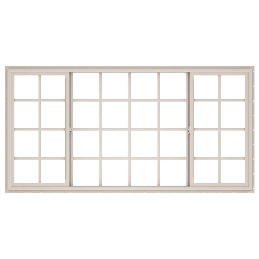 ThermaStar by Pella Both-Operable Vinyl Double Pane Annealed Meets Egress Requirement Sliding Window (Rough Opening: 96-in x 48-in; Actual: 95.5-in x 47.5-in)