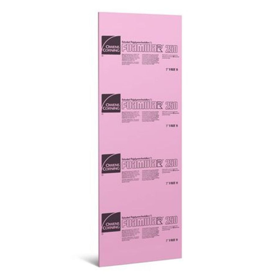 Owens Corning Common 1 In X 2 Ft X 8 Ft Actual 1 In X 24 Ft X 8 Ft Extruded Polystyrene Foam Board Insulation In The Foam Board Insulation Department At Lowes Com