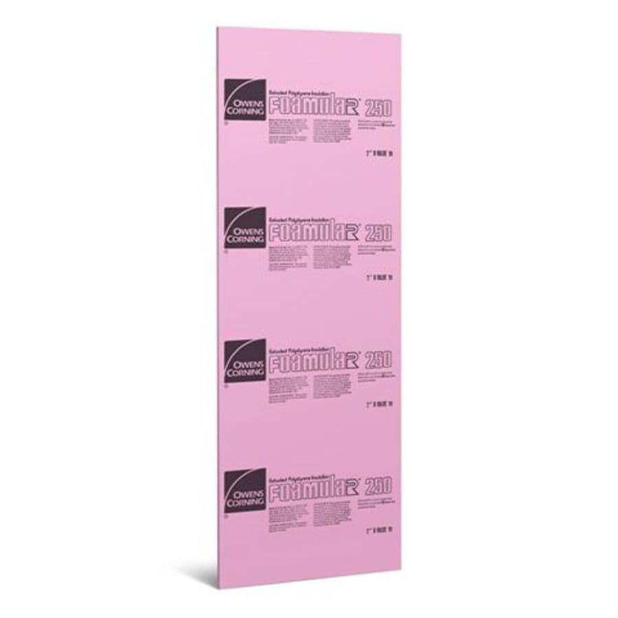 Owens Corning Extruded Polystyrene Foam Board Insulation (Common: 1-in x 4-ft x 8-ft; Actual: 1-in x 48-ft x 8-ft)