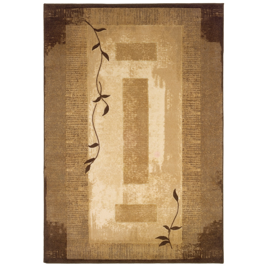 Shop Allen Roth Holder Neutral Rectangular Indoor Tufted