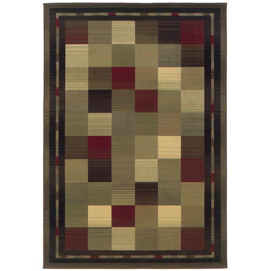 Oriental Weavers of America Sonoma Rectangular Green Transitional Woven Area Rug (Common: 4-ft x 6-ft; Actual: 3.833-ft x 5.416-ft)