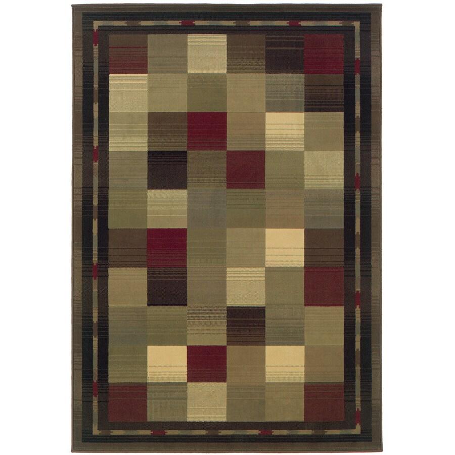 Oriental Weavers of America Sonoma Multicolor Rectangular Indoor Woven Area Rug (Common: 8 x 11; Actual: 92-in W x 130-in L)