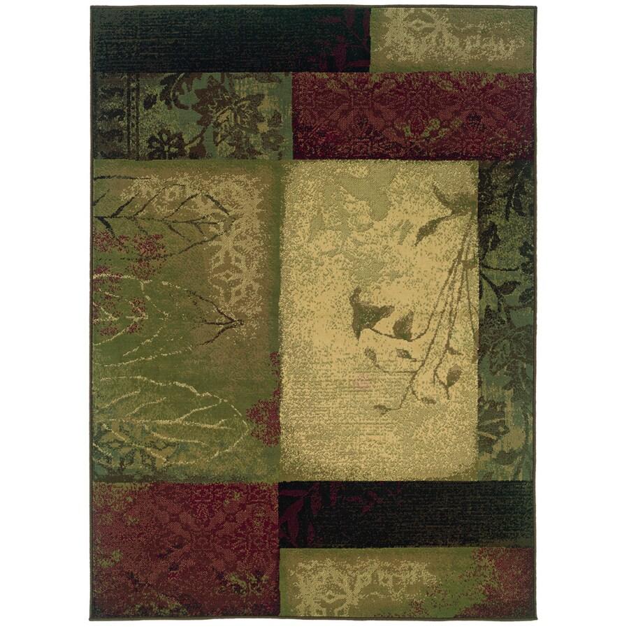 Oriental Weavers of America Bedford Green Rectangular Indoor Woven Area Rug (Common: 4 x 6; Actual: 47-in W x 65-in L)