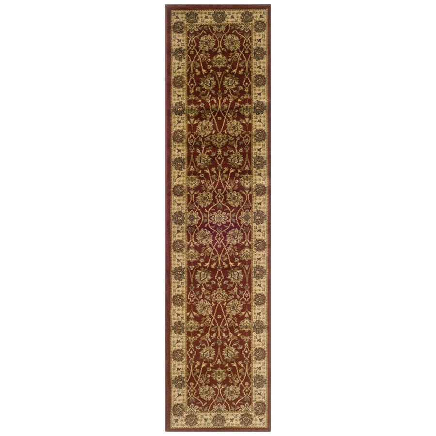Sedia Home Helena Red Rectangular Indoor Woven Oriental Runner (Common: 2 x 8; Actual: 22-in W x 90-in L)