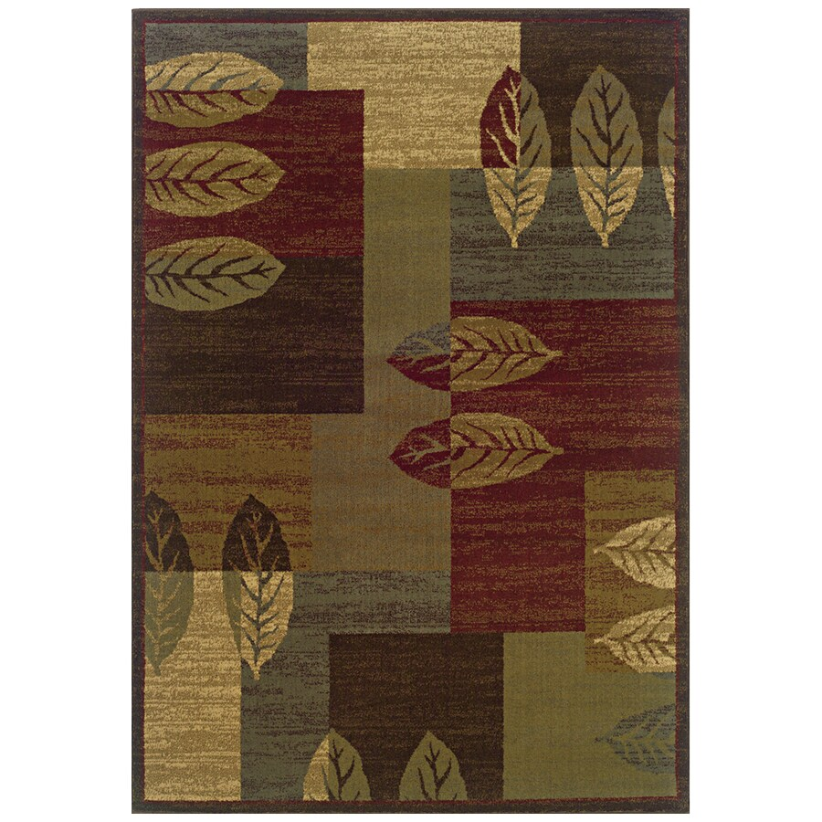 Sedia Home Tarin Green Rectangular Indoor Woven Nature Area Rug (Common: 5 x 8; Actual: 60-in W x 90-in L)