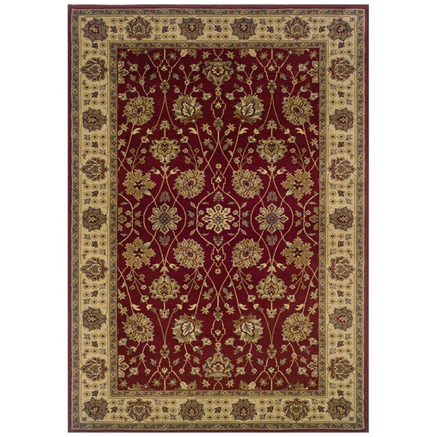 Sedia Home Helena Red Rectangular Indoor Woven Oriental Area Rug (Common: 5 x 8; Actual: 60-in W x 90-in L)