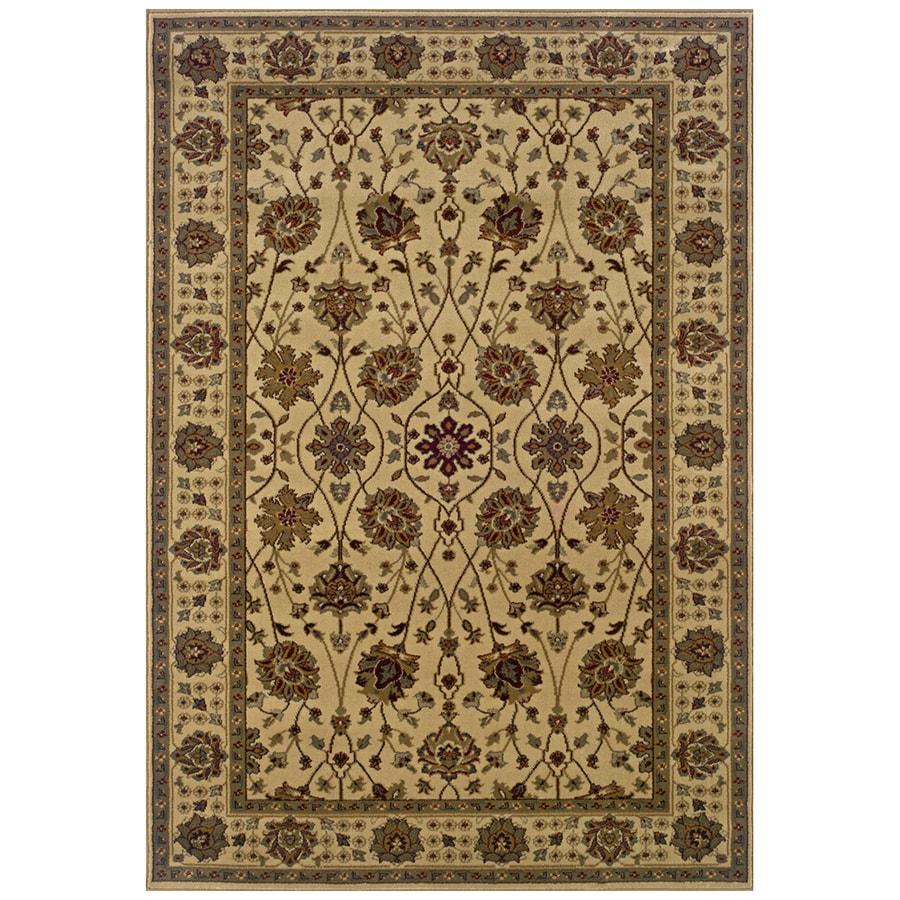 Sedia Home Helena Ivory Rectangular Indoor Woven Oriental Area Rug (Common: 8 x 10; Actual: 98-in W x 120-in L)