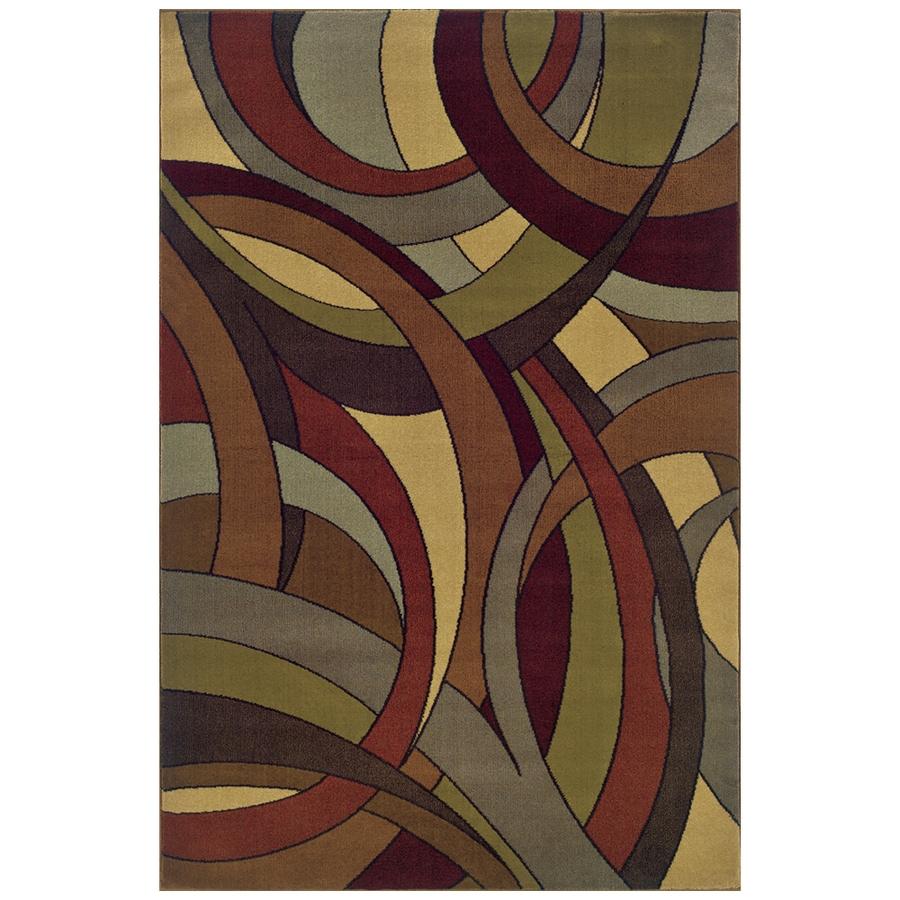 Sedia Home Evander Multicolor Rectangular Indoor Woven Oriental Area Rug (Common: 4 x 6; Actual: 38-in W x 65-in L)