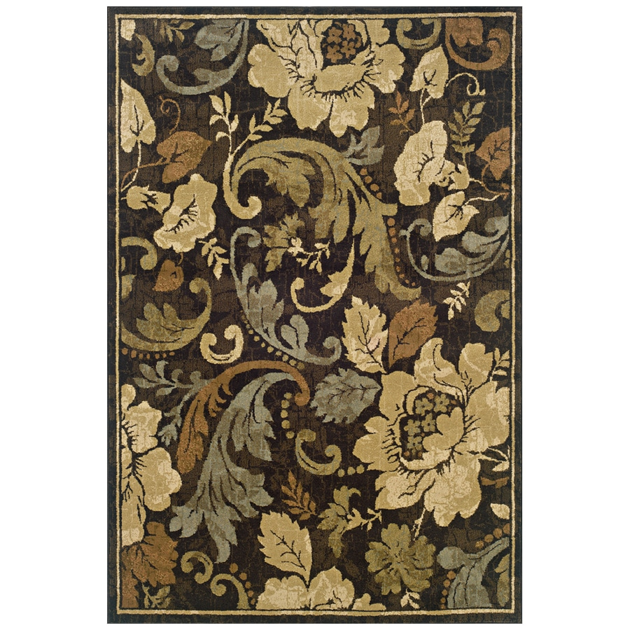Sedia Home Sophie Brown Rectangular Indoor Woven Nature Area Rug (Common: 8 x 10; Actual: 94-in W x 120-in L)