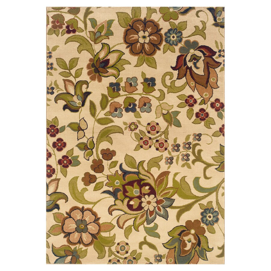 Oriental Weavers of America Isabella Ivory Rectangular Indoor Woven Nature Area Rug (Common: 5 x 8; Actual: 63-in W x 90-in L)