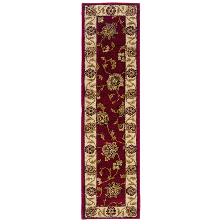 Oriental Weavers of America Addison Red Rectangular Indoor Woven Nature Runner (Common: 2 x 8; Actual: 22-in W x 90-in L)