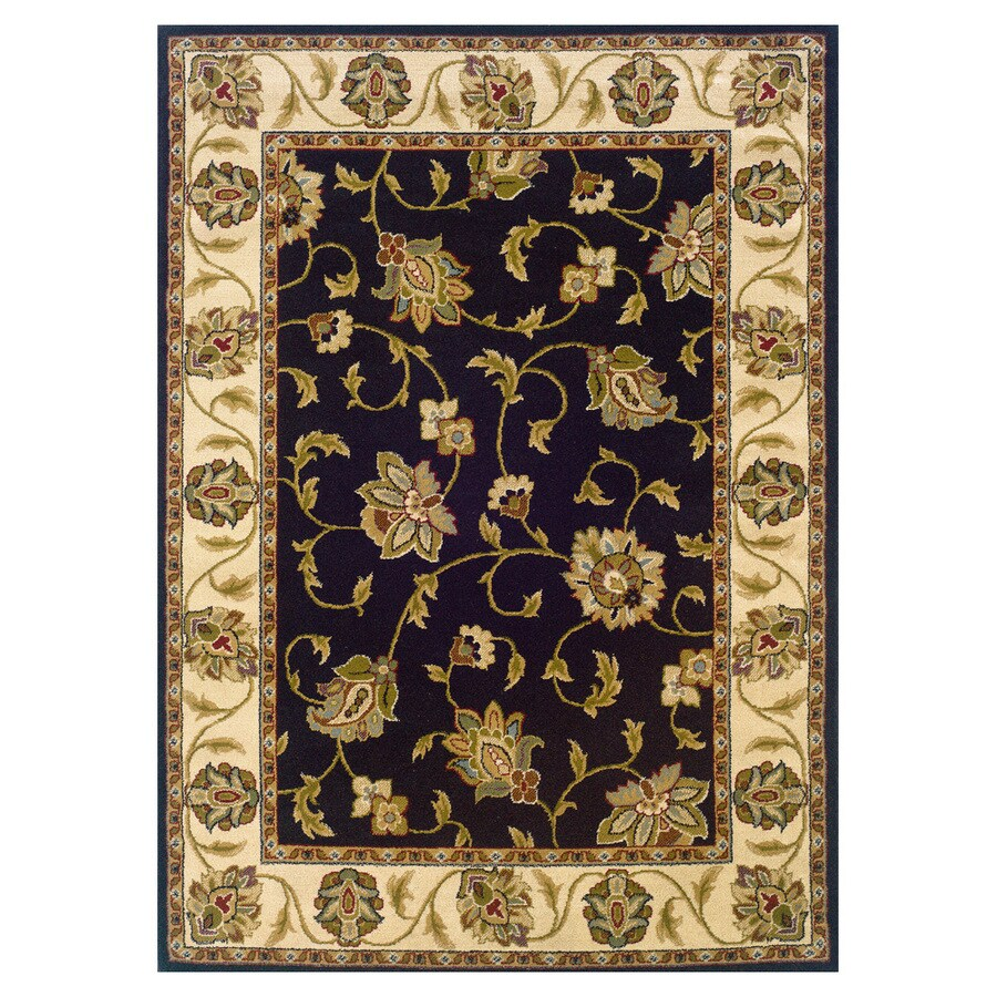 Oriental Weavers of America Addison Black Rectangular Indoor Woven Nature Area Rug (Common: 8 x 11; Actual: 92-in W x 130-in L)