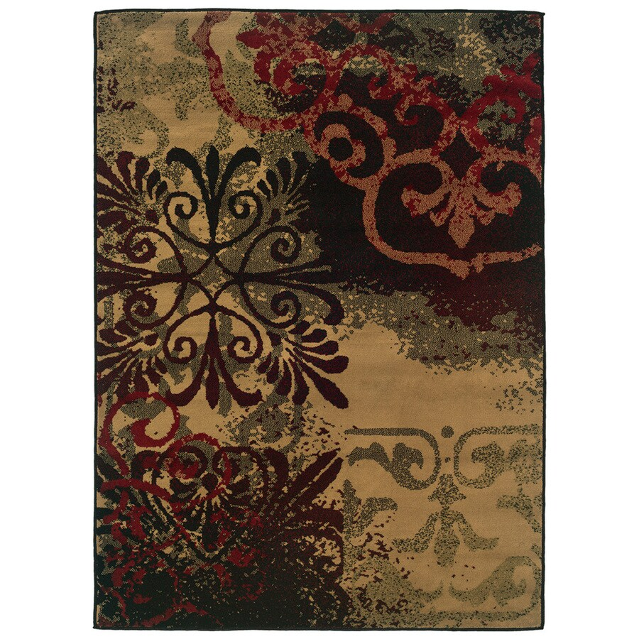 Sedia Home Caroline Neutral Rectangular Indoor Woven Area Rug (Common: 5 x 7; Actual: 60-in W x 87-in L)
