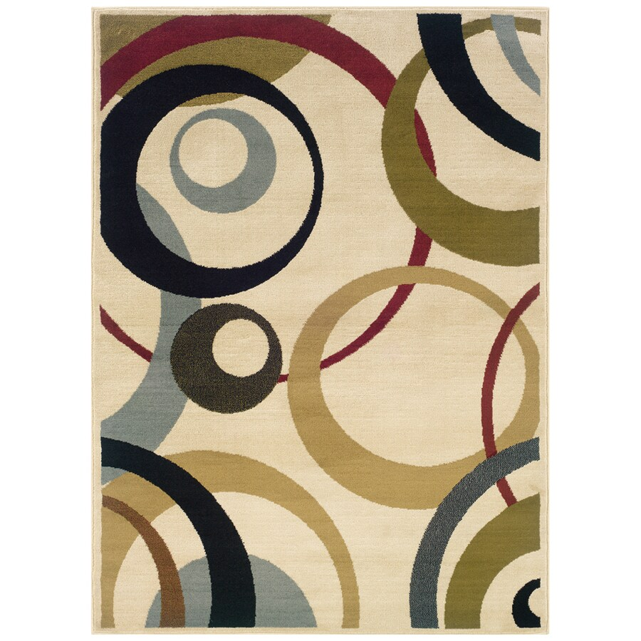 Sedia Home Echo Ivory Rectangular Indoor Woven Area Rug (Common: 5 x 7; Actual: 60-in W x 87-in L)