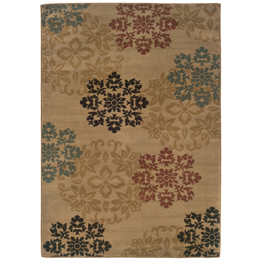 Sedia Home Lacy Gold Rectangular Indoor Woven Nature Area Rug (Common: 8 x 10; Actual: 94-in W x 120-in L)