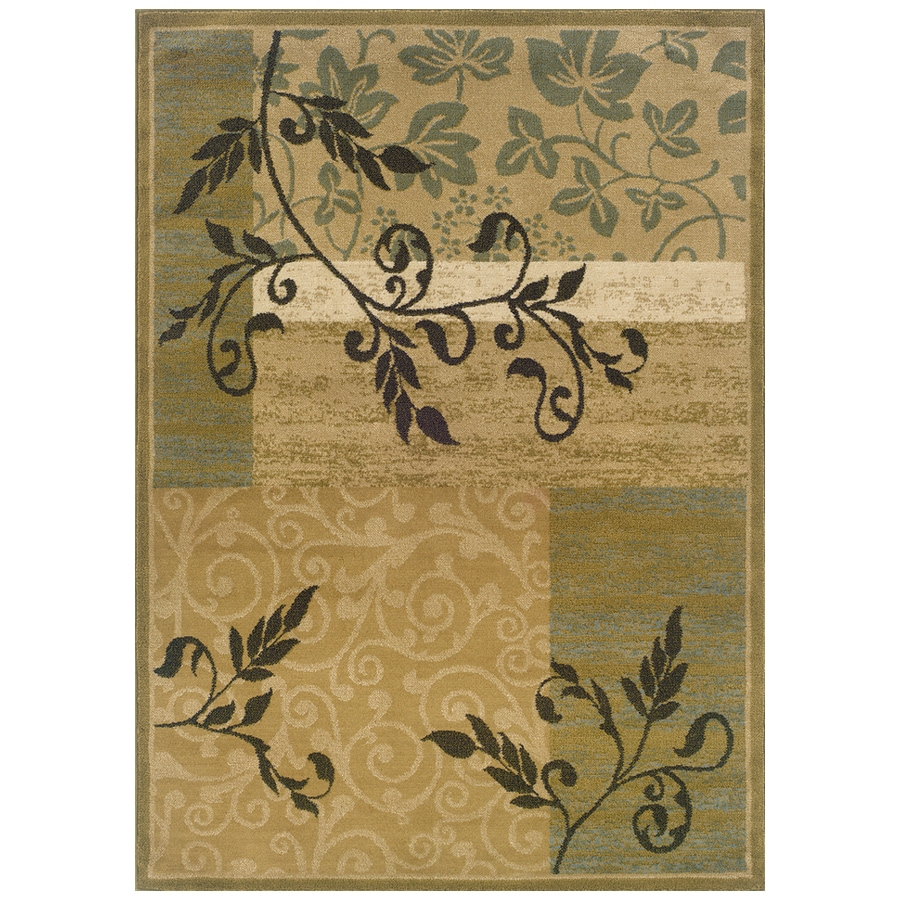 Sedia Home Anna Gold Rectangular Indoor Woven Nature Area Rug (Common: 8 x 10; Actual: 94-in W x 120-in L)