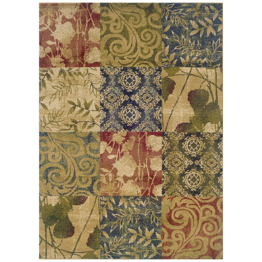 Sedia Home Hannah Multicolor Rectangular Indoor Woven Nature Area Rug (Common: 8 x 10; Actual: 94-in W x 120-in L)